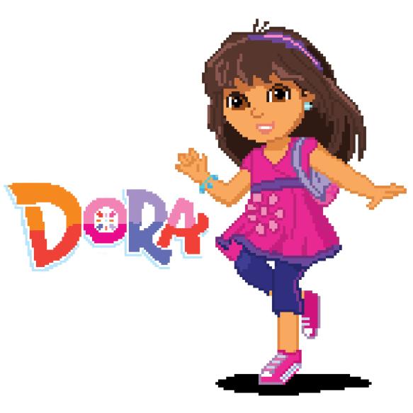 Dora and Friends Pixel Art