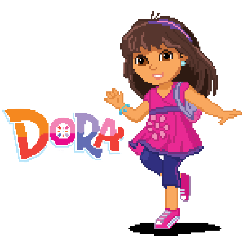 Dora and Friends Pixel Art